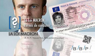Permis de conduire, selon la loi Macron - Avocat Paris