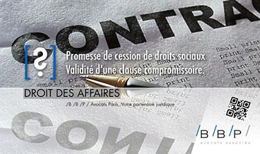 Validité d'une clause compromissoire - Avocat Paris