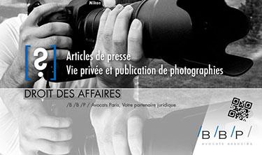Articles de presse et vie privée - Avocat Paris