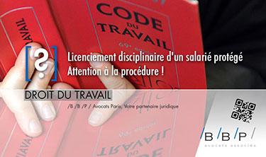 Licenciement disciplinaire avocat paris le cabinet bbp - Cabinet d avocat specialise en droit du travail ...