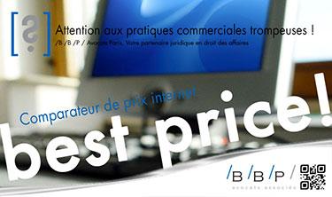 Comparateurs de prix internet - Avocat Paris