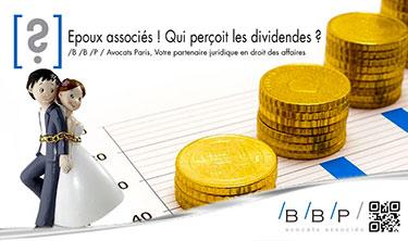 Epoux associés, qui perçoit les dividendes - Avocat Paris