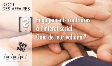 Engagements contraires à l'intérêt social - Avocat Paris