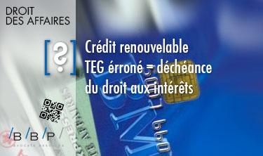 TEG erroné, déchéance du droit aux intérêts - Avocat Paris