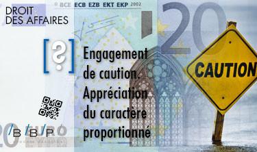 Appréciation du caractère proportionné, engagement de caution - Avocat Paris