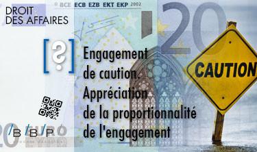 Appréciation de la proportionnalité de l'engagement - Engagement de caution - Avocat Paris