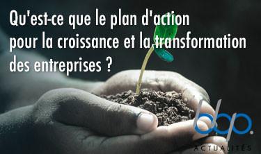 Qu'est-ce que le Plan d'action pour la croissance et la transformation des entreprises?